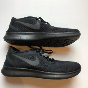 Nike Free RN women's running shoes in black